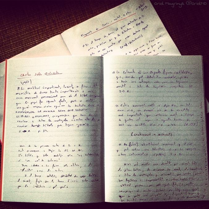 Quaderns manuscrits d'El Subratllat és meu.